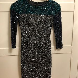 French Connection sequinned dress.